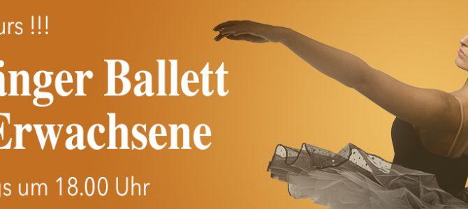 Neuer Kurs für Ballett-Anfänger